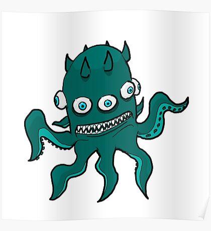 Mutant Squid Poster