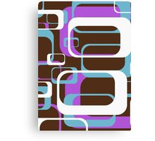 Retro 70's Wallpaper Pattern by Chillee Wilson Canvas Print