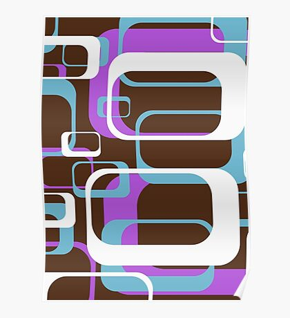 Retro 70's Wallpaper Pattern by Chillee Wilson Poster