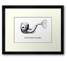 Not a Pipe Framed Print