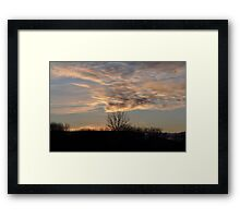 Whipped Sky Framed Print