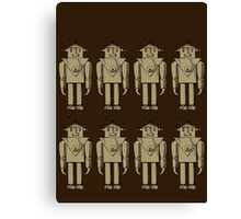 Vintage Robot Army by Chillee Wilson Canvas Print