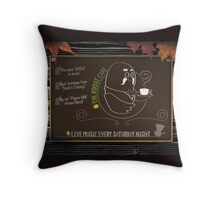 The Roost Cafe Throw Pillow