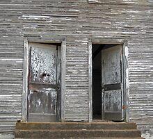 Twin Doors - Old Hopper Arkansas School by Richard Lawry