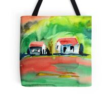 Psychedelic Cottages Tote Bag