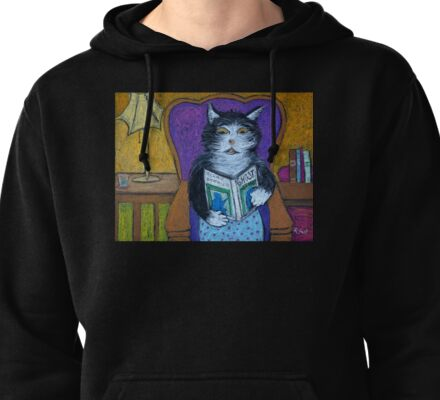 Teddys Scary Book Pullover Hoodie