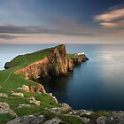 Neist Point at Sunset by Maria Gaellman