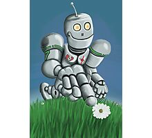 Daisy Picking Robot Photographic Print