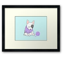 French Bulldog in a Knitted Jumper Framed Print