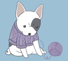 French Bulldog in a Knitted Jumper Baby Tee