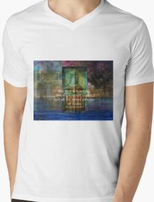 The love of learning, the sequestered nooks, And all the sweet serenity of books. Mens V-Neck T-Shirt