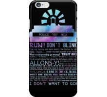 10TH doctor QUOTES iPhone Case/Skin