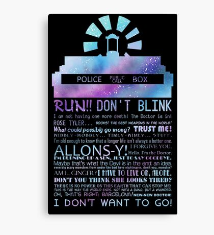 10TH doctor QUOTES Canvas Print