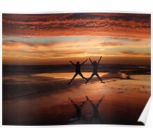 Two Stars for a Perfect Sunset Poster