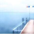 A Little Pier In Evian Les Bains by Angelika  Vogel