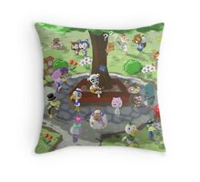 Welcome to Animal Crossing Throw Pillow