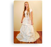 Traditional Gown Display Metal Print