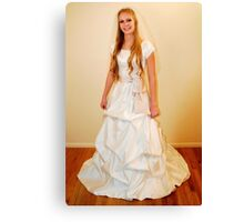 Traditional Gown Display Canvas Print