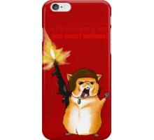 Hamster Rambo Text iPhone Case/Skin