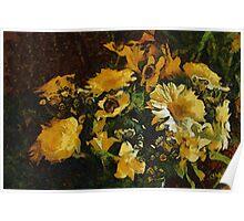 Flowers à la Van Gogh Poster