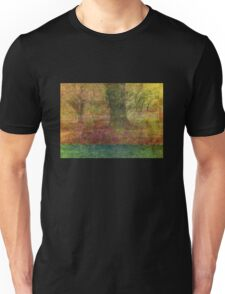 Autumn Landscape in yellow, red, and orange Unisex T-Shirt