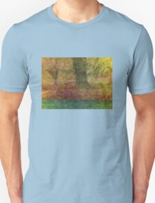 Autumn Landscape in yellow, red, and orange T-Shirt