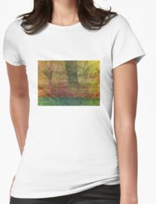 Autumn Landscape in yellow, red, and orange Womens Fitted T-Shirt