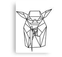Origami Yoda B&W Canvas Print