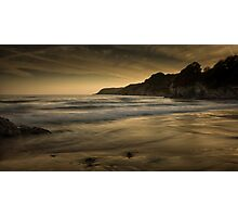 Sunset at Caswell Bay Photographic Print