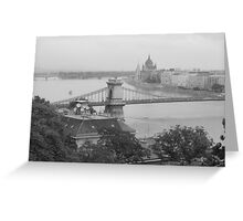 Budapest Parliament and River Danube Greeting Card