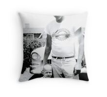 Tommy & Dad Throw Pillow