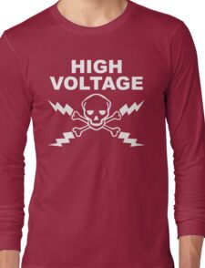 High Voltage - White Long Sleeve T-Shirt