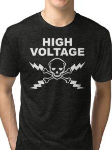 High Voltage - White Tri-blend T-Shirt