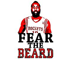 Fear the Beard Stencil Design by nbatextile
