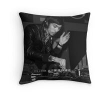 Justice live DJ set Throw Pillow