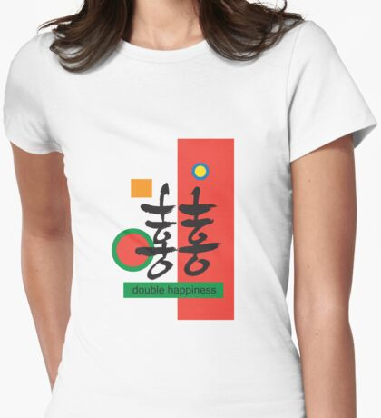 Double happiness Womens Fitted T-Shirt