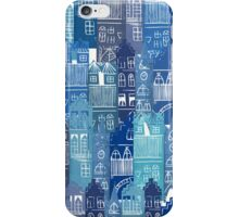 Blue Cityscape iPhone Case/Skin