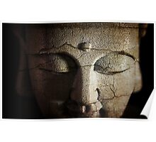 Buddhas Cracked Face Poster