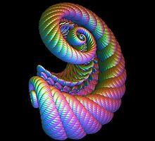 Scrollwork Rainbow Cornucopia by Hypnogoddess