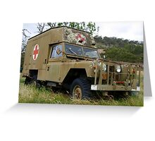 Ambulance in Khaki Greeting Card