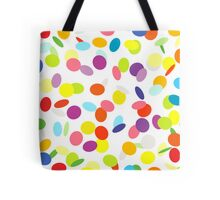 Joyful flying сonfetti on white. Design for a party. Tote Bag