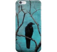 Aqua Blue Crow Sky iPhone Case/Skin