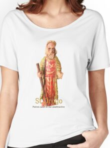 St Drogo, the patron saint of the less than attractive. Women's Relaxed Fit T-Shirt