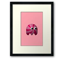 Pink Cute Monster by Chillee Wilson Framed Print