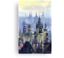 Prague Towers Canvas Print
