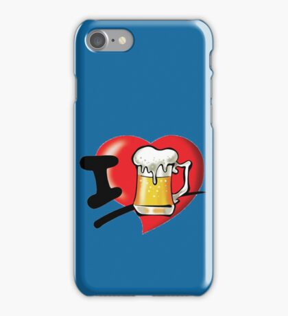 I Love Beer iPhone Case/Skin
