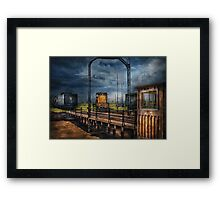 Train - On the turntable Framed Print
