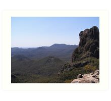 The Majesty of it! View from High Tops. Warrumbungle Nat. Park. N.S.W. Art Print