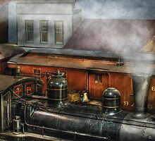 Train - The train yard by Mike  Savad