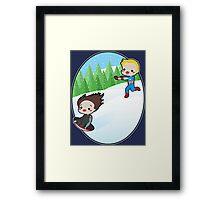 The Winter Sledder Framed Print